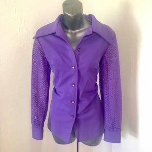 Tops - Ladies Vintage Long Sleeve Shirt/Jacket!!